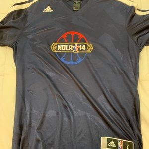 NBA all star game 2014 New Orleans warm up shirt